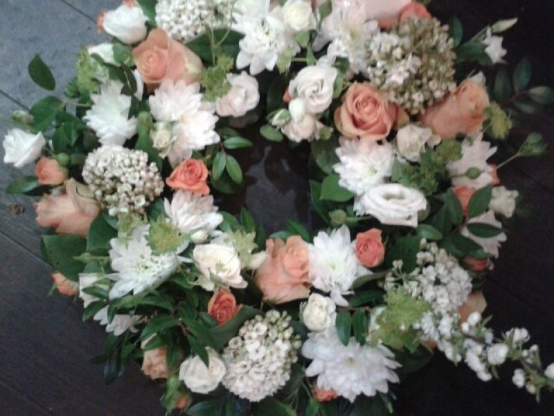 Funeral Wreath using Irish Colours