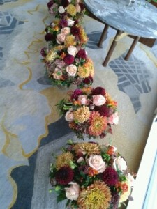 Table arrangements - wedding - the shard