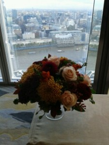 wedding flowers - wedding - the shard